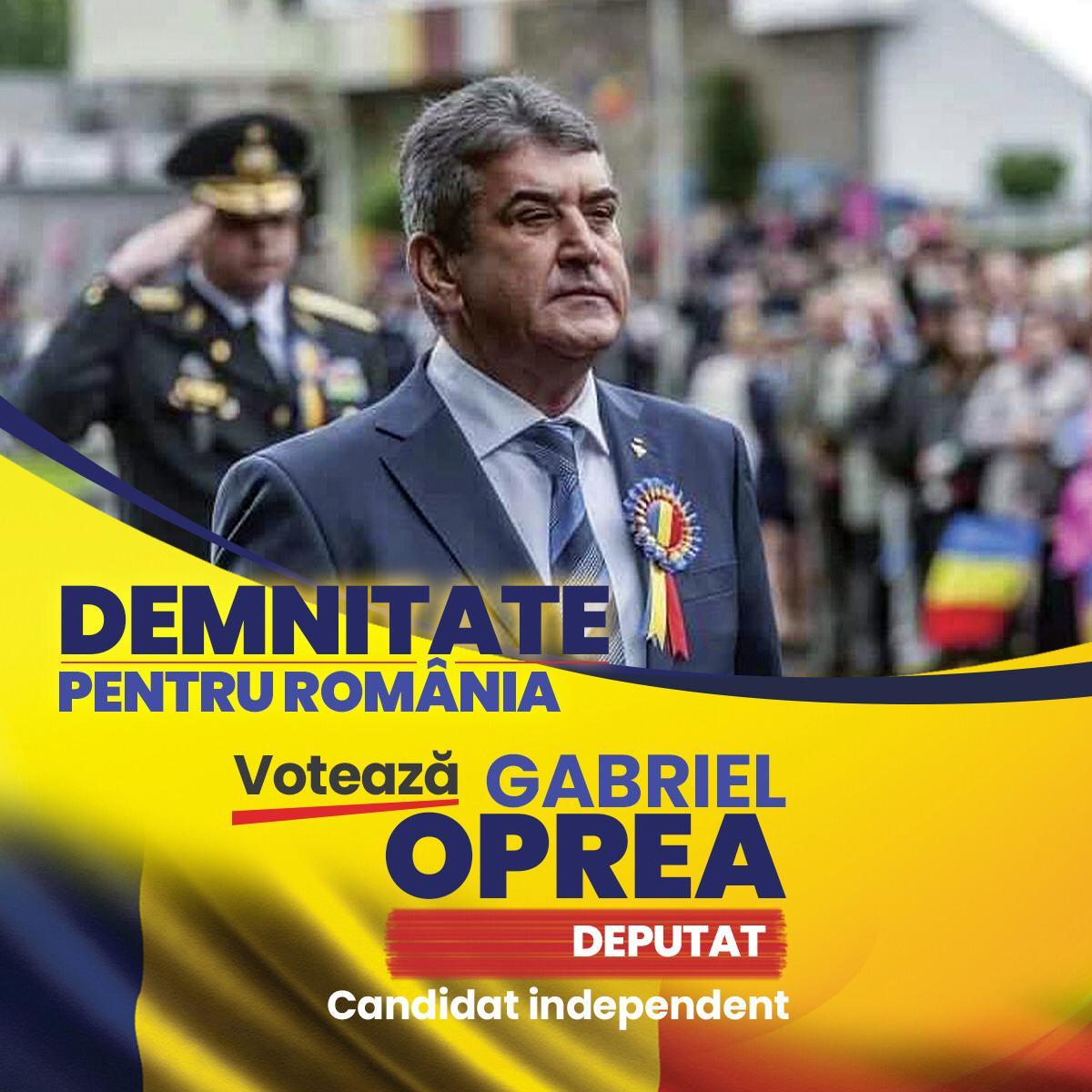 Votează Gabriel Oprea, Demnitate pentru România